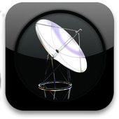 Glossy icon with SAT — Stock Photo