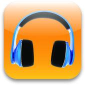 Glossy headset web icon design element — Stock Photo