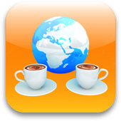 Coffee cups icon. Internet concept — Stock Photo