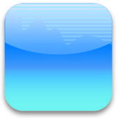 Airwaves blue icon — Stock Photo