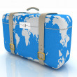 Stock Photo: Suitcase for travel