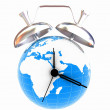 3d illustration of world alarm clock  — Stock Photo