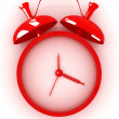 3D illustration of red alarm clock icon — Stock Photo