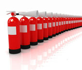 Red fire extinguishers — Stock Photo