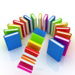Colorful books flying  — Stock Photo