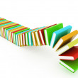 Colorful real books on white background — Stock Photo #30285181