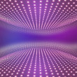 Stock Photo: Light path to infinity on pink background.