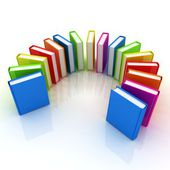 Colorful books — Stock Photo