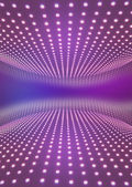 Light path to infinity on a pink background. — Stock Photo
