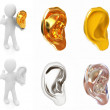 Stock Photo: Ear set