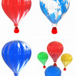 Air Balloons set  — Stock Photo