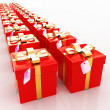 Bright christmas gifts — Stockfoto