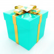 Bright christmas gift — Foto de Stock
