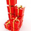 Bright christmas gifts — Foto de Stock
