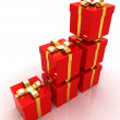 Bright christmas gifts — Foto Stock
