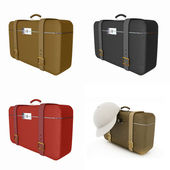 Traveler's suitcase set — Stock Photo