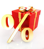 Percentage and gifts — Stok fotoğraf