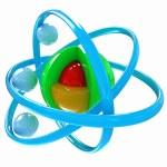 3d atom — Stock Photo #34341333