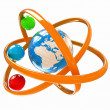 3d atom. Global concept — Stock Photo
