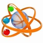 3d atom — Stock Photo #34341425