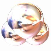 3d illustration of a water molecule — Zdjęcie stockowe