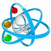 3d illustration of a water molecule — Stock Photo
