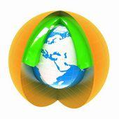 Abstracte wereld symbool — Stockfoto
