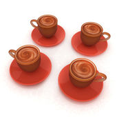 Coffee cups on saucer — Stock Photo