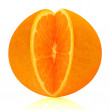 Orange fruit cutout — Stock Photo