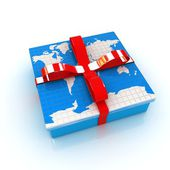 Earth for gift — Stock Photo
