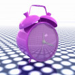 3d illustration of glossy alarm clock. Time concept — Stock Photo