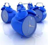 Alarm clock 3d illustration isolated on white — 图库照片
