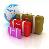 Traveler's suitcases — Stock Photo