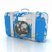 Suitcase for travel — Stock Photo