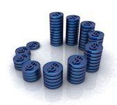 Dollar tokens — Stock Photo