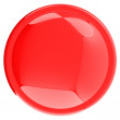 bouton rouge brillant — Photo