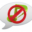 Stock Photo: Messenger window icon. Prohibition of noise and music