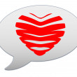 Messenger window icon. Heart of the bands — Stok fotoğraf