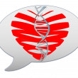 Messenger window icon. Heart of the bands — 图库照片