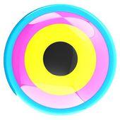 Colorfull tlačítko — Stock fotografie