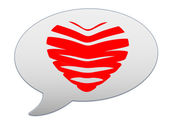 Messenger window icon. Heart of the bands — Stock Photo