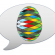 Messenger window icon and Easter Egg — Stock Photo