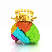 Gold Crown on the brain — Stock Photo