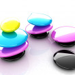 Colorfull spa stones. 3d icon — Stock Photo