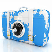 Suitcase-safe for travel — Stock Photo
