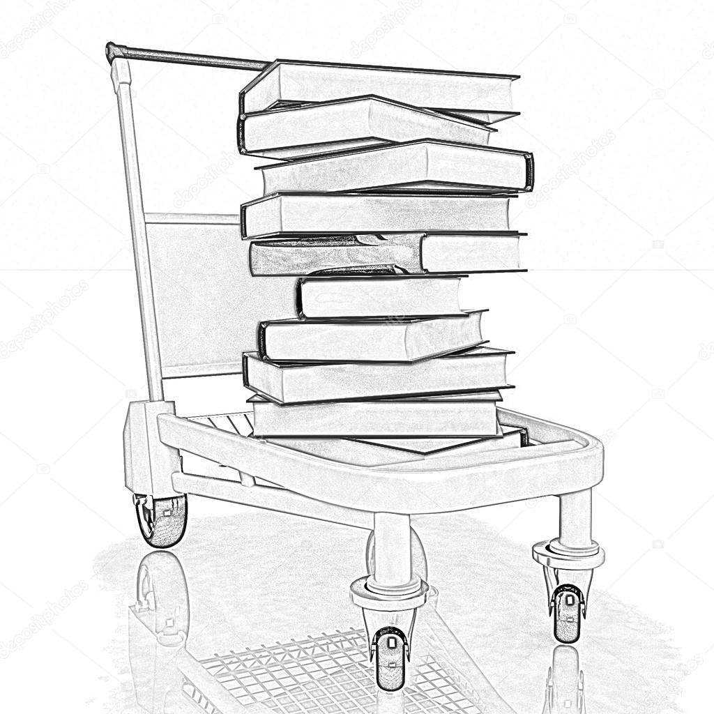 Book Pencil Drawing Pencil Drawing of a Books in
