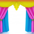 Stock Photo: Colorfull curtains