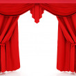 Stock Photo: Red curtains
