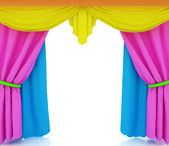 Colorfull curtains — Stock Photo