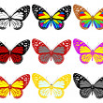 Butterflies botany set — Stock Photo #42703175